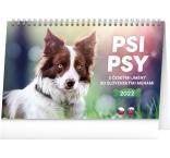 PGS-30199 - Stolový kalendár Psi – Psy CZ/SK 2022, 23,1 × 14,5 cm