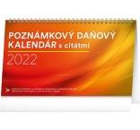 PGS-30202-SK - Stolový kalendár Poznámkový daňový s citátmi 2022, 25 × 14,5 cm