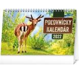 PGS-30207-SK - Stolový Poľovnícky kalendár 2022, 23,1 × 14,5 cm