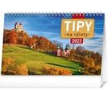 PGS-30211-SK - Stolový kalendár Tipy na výlety 2022, 23,1 × 14,5 cm