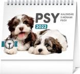 PGS-30220-SK - Stolový kalendár Psy – s menami psov 2022, 16,5 × 13 cm