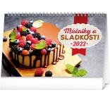 PGS-30225-SK - Stolový kalendár Múčniky a sladkosti 2022, 23,1 × 14,5 cm