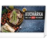 PGS-30226-SK - Stolový kalendár Kuchárka (nie)len pre mužov 2022, 23,1 × 14,5 cm